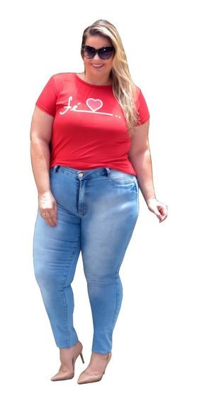 Kit Calça Jeans Femininas Plus Size C Lycra Moda Feminina 3
