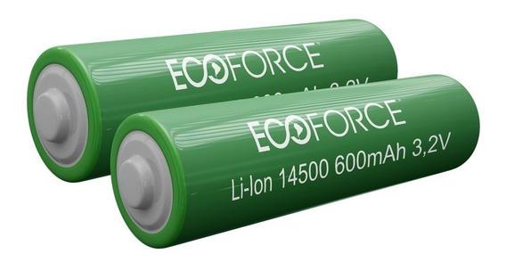 Kit 2 Bateria Lítio Recarregável 3,2v 600mah Luminária Solar