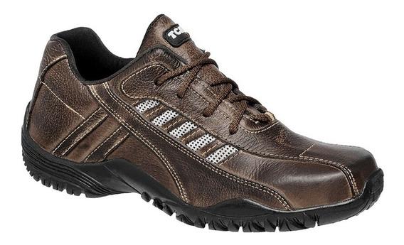 Sapatenis Masculino Em Couro Café | Muito Barato Tchwm Shoes