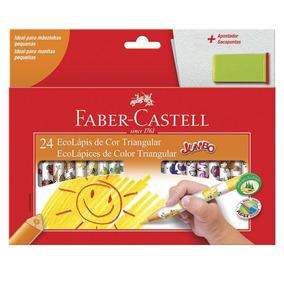 Lápis De Cor - Ecolápis Jumbo - 24 Cores - Faber-castell