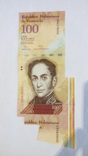 Excelente Y Unico Billete Error 100 Bs.