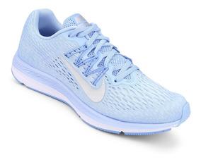 Tenis Nike Feminino Zoom Winflo 5 Azul/cinza