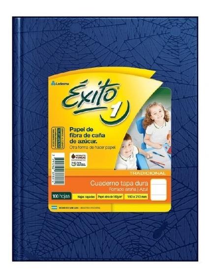 Cuaderno Exito Tapa Dura Forrado 48 Hojas X8 Unidades