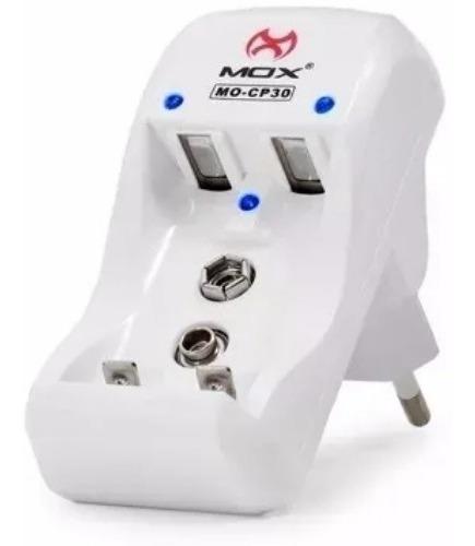 Imagem 1 de 1 de Carregador Para 2 Pilhas Com Aa Aaa E 9v Mox Bivolt Mo-cp30