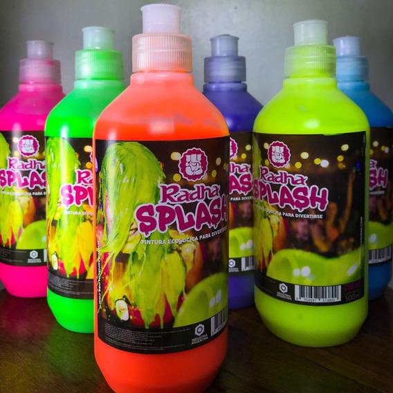4 Pinturas Fluo Colores Surtidos Upd Egresados Carnaval Cari