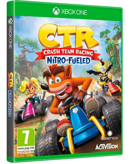 Jogo Crash Ctr Nitro Fueled Xbox One Midia Fisica Original