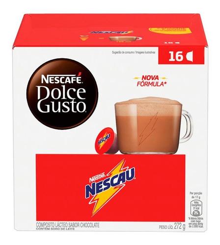 Imagem 1 de 1 de Cápsulas De Café Nescafé D Gusto Nescau Caixa C 16 - Nestlé