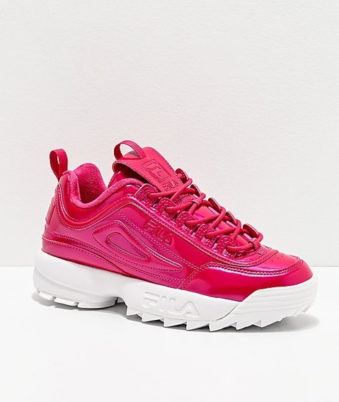 Tenis Fila Disruptor 2 Premium Rosa Pink Frambuesa Unisex
