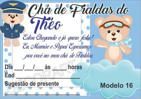 780774d632 Convite Urso Aviador - Festas no Mercado Livre Brasil