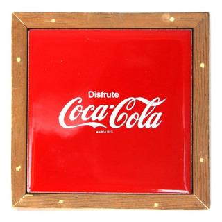 Coca Cola Raro Azulejo Decorativo Original - Envío Gratis -