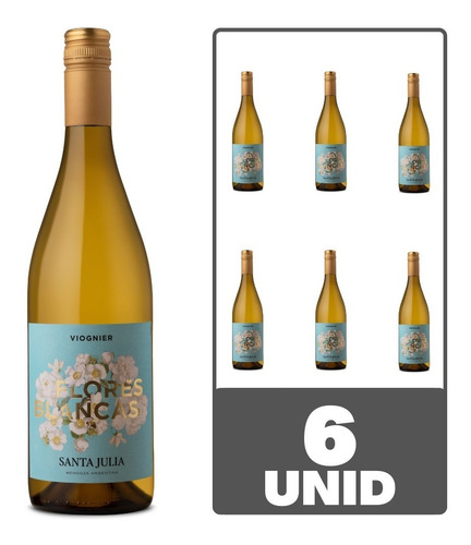 Imagen 1 de 5 de Vino Santa Julia Flores Blancas Viognier Bco 750ml Caja X 6