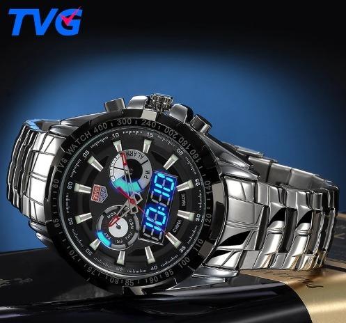 Relógio Masculino Tvg De Luxo Original Na Caixa Frete Grátis