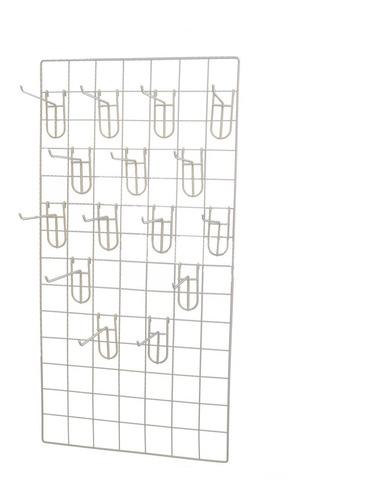 Imagen 1 de 10 de Paquete De 2 Rejas De 50x100cm Y 30 Ganchos