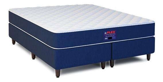 Cama Box Casal Colchão Flex Roll Plaza Mayor + Box 138x188cm