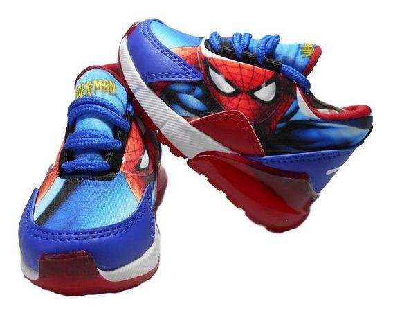 Zapato Deportivo Spiderman Tenis Tallas 21 Al 32