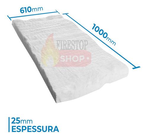 0,61 M² Manta Fibra Cerâmica Alta Temperatura 1.260ºc