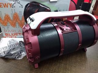 Parlante Portatil Bluetooth Bazooka Sewy Pbt-05 25w Rms Led