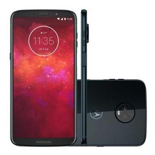 Motorola Moto Z3 Play 64gb - Indigo - Produto Usado!
