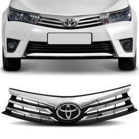 Grade Dianteira Corolla 2015 2016 2017 Cromada Com Emblema