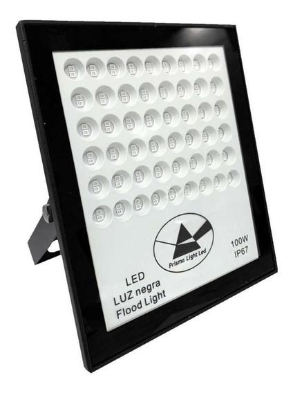 Refletor 100w Uv Luz Negra Efeito Neon Dj Festas Baladas