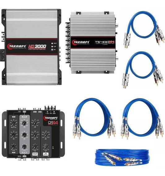 Kit Crx4 + Hd3000 + Ts400 + Rca 1x5 Mt +2x 1 Mt 2x+ Y 1f2m