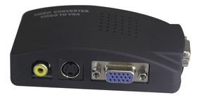 Adaptador Que Converte Rca S-video P/ Monitor Vga Transcoder