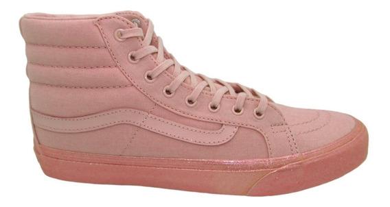 Tenis Vans Sk8 Hi Slim Vn0a32r2of7 Metallic Glitter Sil Pink