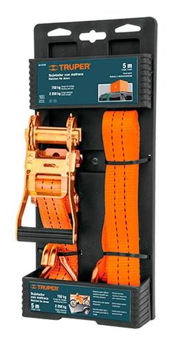 Eslinga Con Crique Traca Sujetador 5mts Reforzado Autos Moto