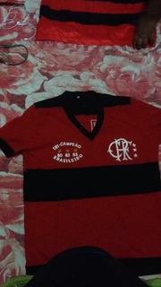 Camisa Do Flamengo Tri Campeonato Brasileiro 80 82 83