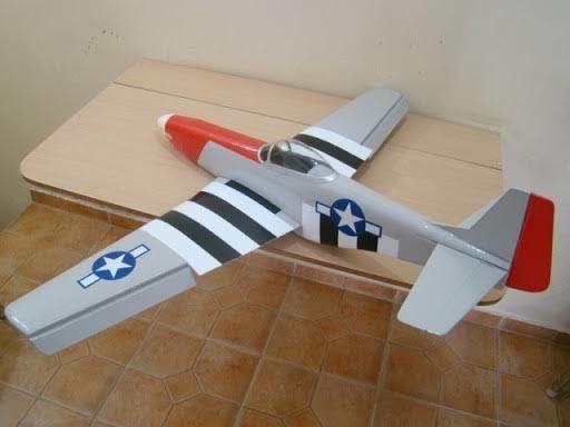P51 Mustang Aeromodelo Kit Para Montar, Para Motor Eletrico