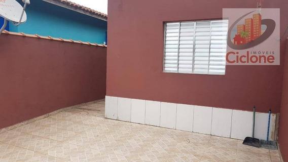 Casa Com 2 Dormitórios Para Alugar, 90 M² Por R$ 1.000/mês - Balneário Iemanjá (bordignon) - Itanhaém/sp - Ca0717