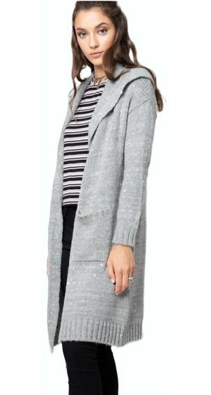 Saco Largo Lana Mujer Capucha Calidad Premium Moda 2020