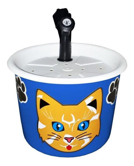 Bebedouro Fonte Para Gatos 1,5l Azul