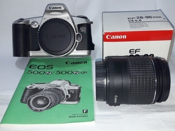 Câmera Analógica Canon Eos 500n Com Lente 28-90mm