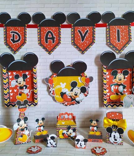 Kit Só Um Bolinho Tema Mickey Mouse Kit Festa Em Casa Disney