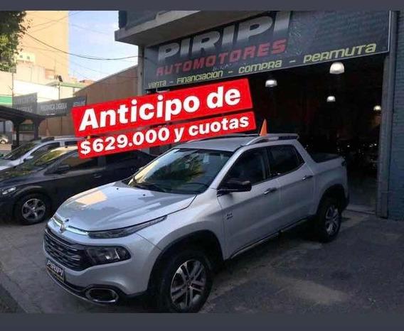 Fiat Toro 2.0 Volcano 4x4 At 2017, $629.000 Y Ctas Fijas Yaa