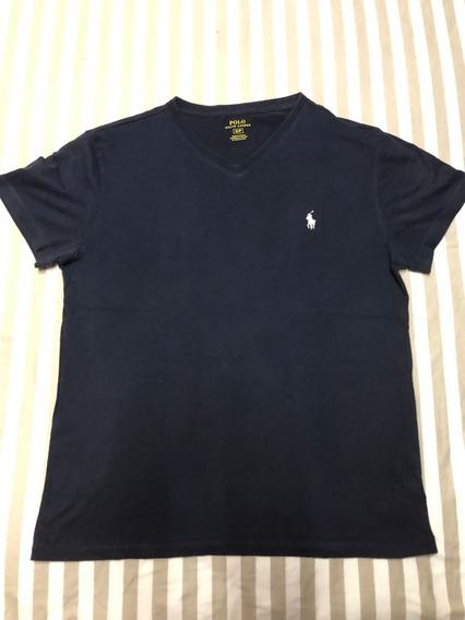 Polo Ralph Lauren Camisa Azul Caballo Casuals Small Cuello V