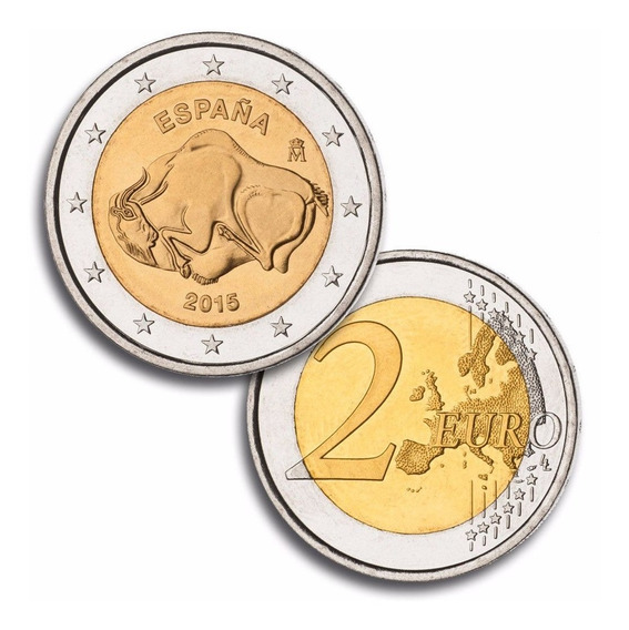 España Moneda 2 Euros Cuevas Altamira Año 2015 Sin Circular