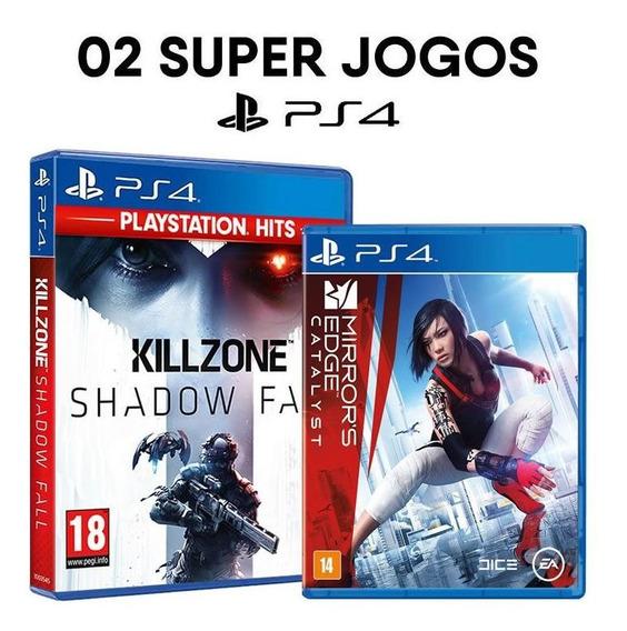 Killzone Shadow Fall + Mirrors Edge Catalyst - Ps4 [ Novos ]