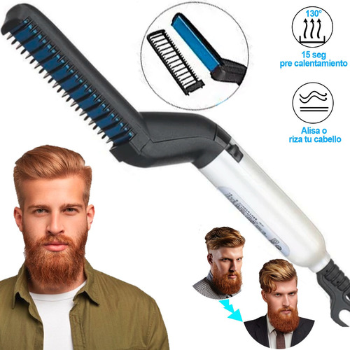 Plancha Barba Alisador Cepillo Electrico Barberia Electrico