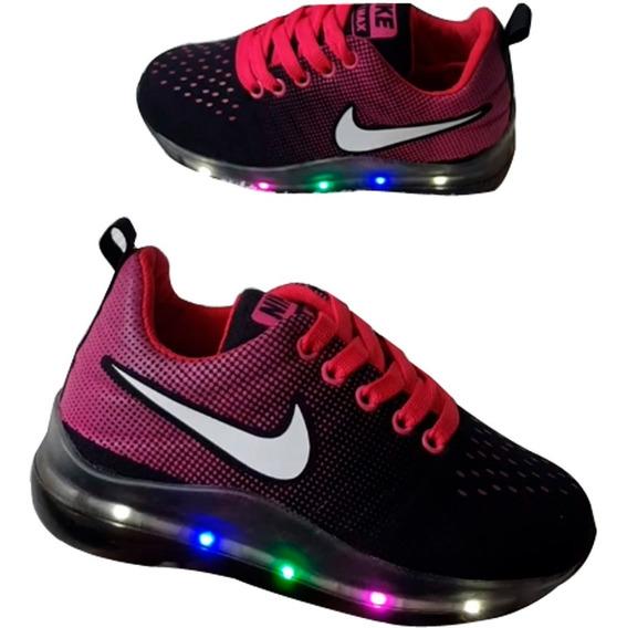 Zapatos Tenis Deportivos Nike Para Niñas Con Luces Colores
