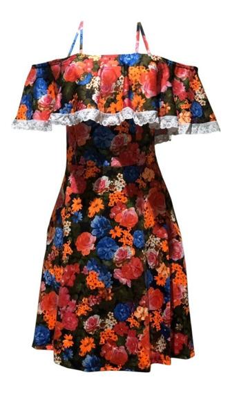 Vestido Babado Moda Feminina Florido Verão Festa Junina