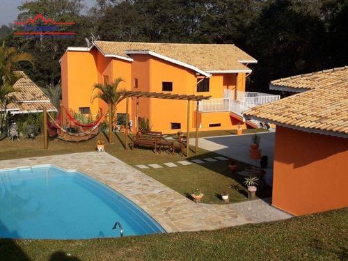 Chácara Com 6 Dormitórios À Venda, 2100 M² Por R$ 1.600.000 - Jardim Estância Brasil - Atibaia/sp - Ch0211