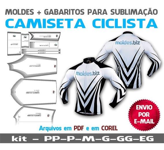 Molde Camiseta Ciclista Masculina Manga Curta E Longa