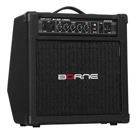 Amplificador Baixo Borne Cb80 Impact Bass - Bivolt 30w Preto