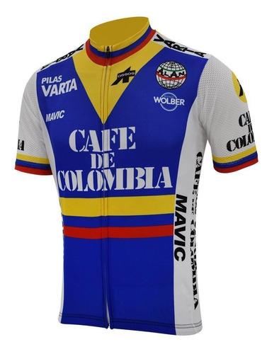 Jersey Ciclismo Bicicleta Ruta Colombia Unisex