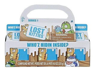 Lost Kitties Conjunto 3 Caixa Surpresa Massinha Hasbro 13605