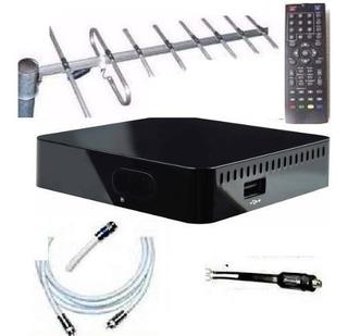 Kit Completo Tv Digital Tda Antena Ext Decodificador Oferta