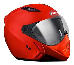 Capacete New Mirage Peels Óculos Solar Vermelho F21