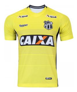 Camisa Masculina Goleiro Ceará Topper Amarela 2017